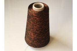 Viscose-Polyester-Metallic 1844 zwart-rood 200 gram op=op