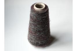 Mohair Superfine Alpaca Polyamide 4411 print bordeau grijs 100 gram (op=op)