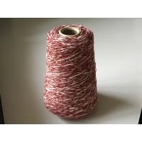Katoen-Acryl 1850 bordeau rood-wit gemeleerd 200 gram