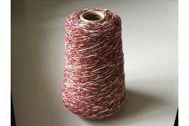 Katoen Acryl 1850 bordeau rood-wit gemeleerd 200 gram
