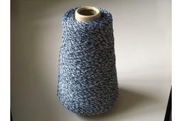 Katoen-Acryl 1854 blauw-wit gemeleerd 200 gram