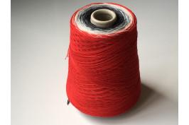 Katoen Acryl 0023 Garencake 390 gram / 1460 meter rood-zwart