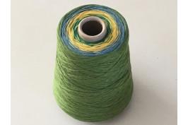 Katoen Acryl 0010 Garencake 385 gram / 1440 meter groen-geel-blauw