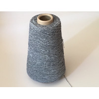 Katoen-Polyester 1456 zilver blauw 200 gram