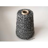 Wol Acryl 1874 zwart grijs wit 200 gram