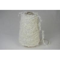 Katoen-Acryl 1627 wol wit (zwart) zacht boa garen 200 gram