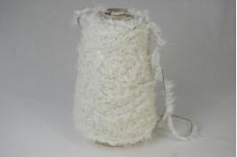 Katoen Acryl 1627 wol wit (zwart) zacht boa garen 200 gram