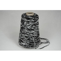 Katoen-Acryl 1547 zwart wit 200 gram